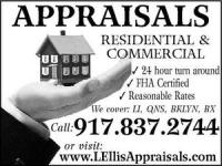 Long Island Real Estate Appraisal, New York Real Estate Appraiser